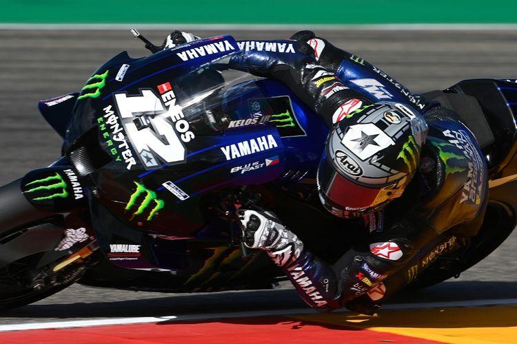Maverick Vinales saat berlaga di MotoGP Teruel. (Photo by PIERRE-PHILIPPE MARCOU / AFP)