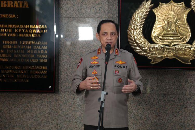 Wakapolri Komjen Gatot Eddy Pramono di Mabes Polri, Jakarta Selatan, Kamis (13/8/2020).