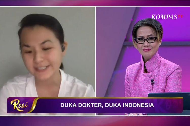 Tangkapan layar wawancara dokter Debryna Dewi dengan Rosiana Silalahi di Kompas TV yang diupload Chanel Youtube KompasTv pada Minggu (6/9/2020)