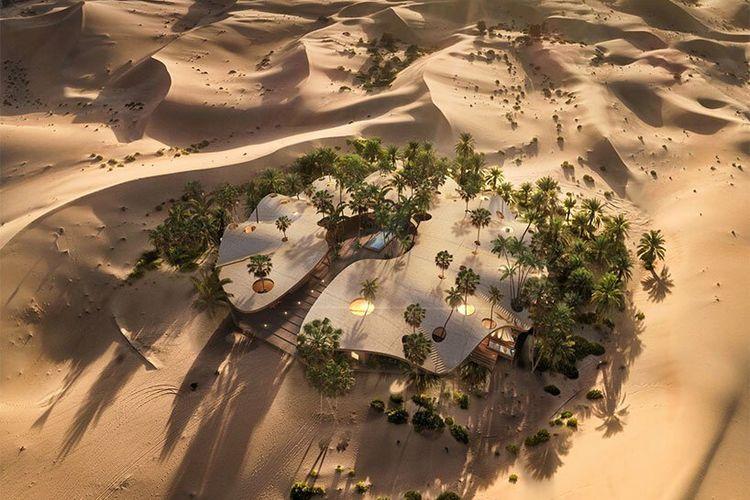 Hotel Dunas di tengah padang pasir Kuwait