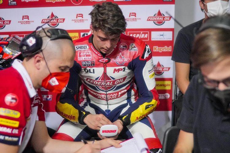 Fabio Di Giannantonio saat berlaga pada Moto2 Doha 2021