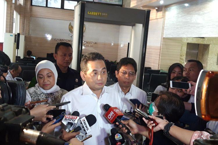 Menteri Perdagangan Agus Suparmanto di Kementerian Koordiantor Perekonomian, Jakarta, Senin (3/2/2020).