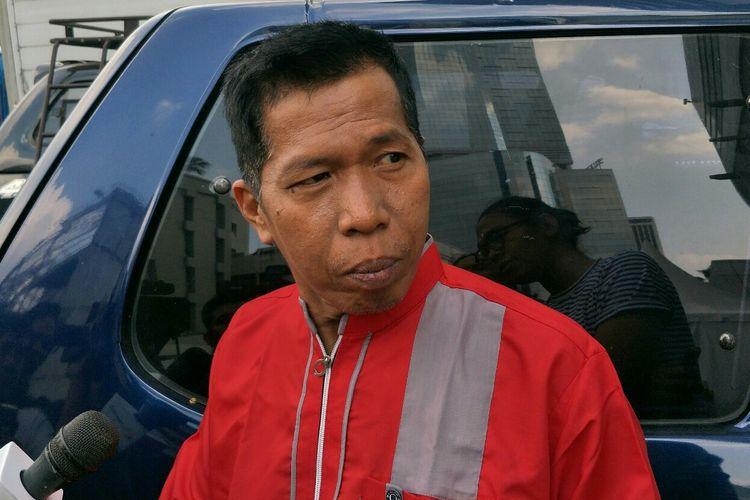 Komedian Kiwil saat ditemui usai tampil di salah satu acara stasiun televisi swasta di kawasan Mampang, Jakarta Selatan, Selasa (28/5/2019).