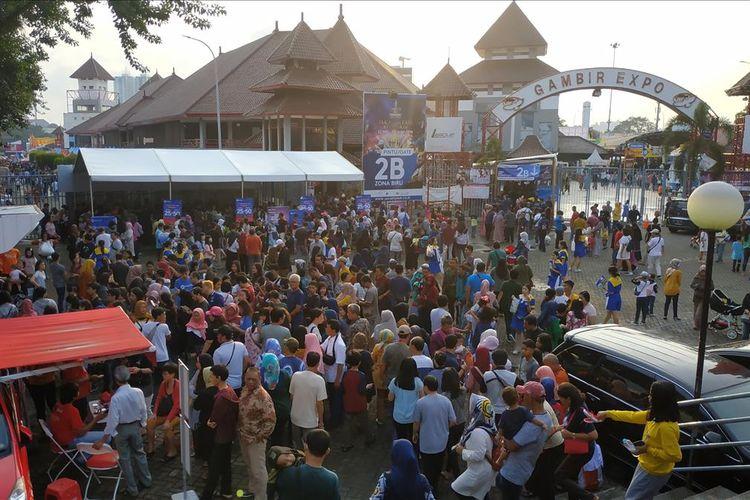 Keramaian di Pekan Raya Jakarta (PRJ), Jumat (7/6/2019) sore.