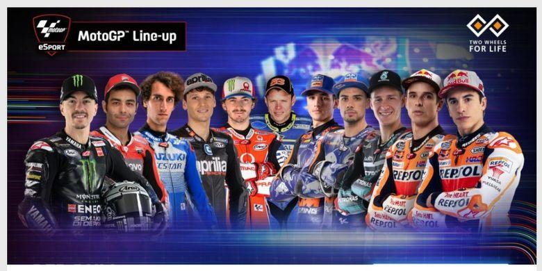Peserta balapan MotoGP Virtual Race III.
