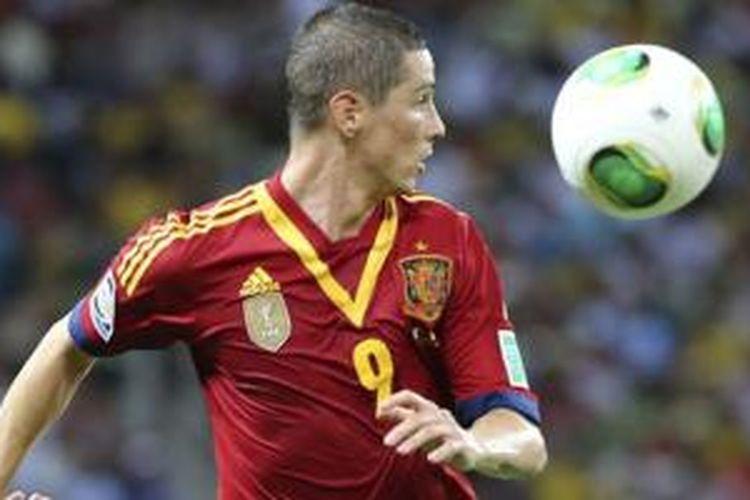 Fernando Torres bersama Timnas Spanyol.