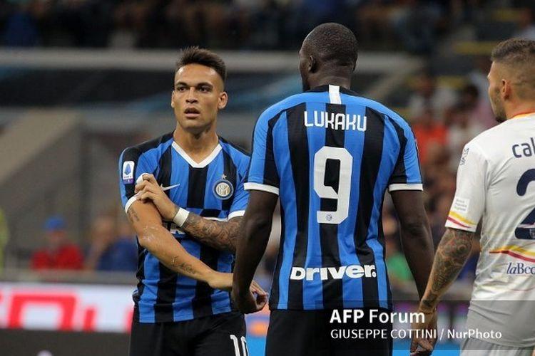 Lautaro Martinez dan Romelu Lukaku, tandem lini depan Inter Milan di bawah asuhan Antonio Conte.