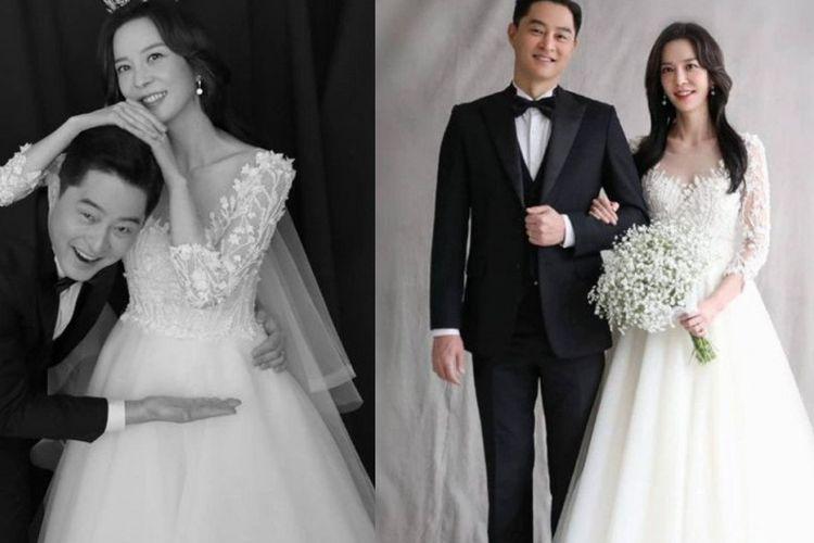 Artis musik Kim Jin Woo atau yang lebih dikenal dengan nama Jinu (kiri) menikah dengan Sara Lim.