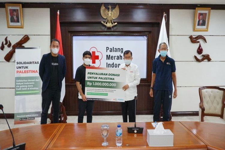 Penyaluran donasi untuk Palestina melalui PMI senilai Rp 1 miliar.