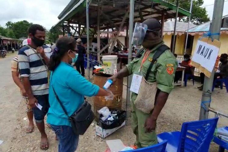 Pelaksanaan PSS Pilkada Boven Digoel, Papua, Senin (28/12/2020)