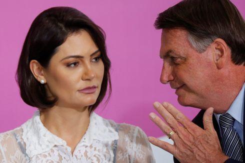 Istri Presiden Brasil Michelle Bolsonaro Positif Covid-19 Usai Suaminya Sembuh