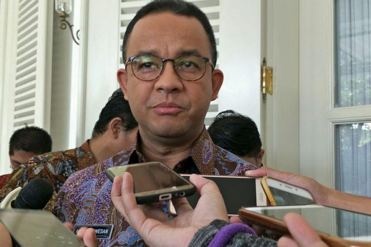 Gubernur DKI Jakarta Anies Baswedan di Balai Kota DKI Jakarta, Jalan Medan Merdeka Selatan, Kamis (7/12/2017).