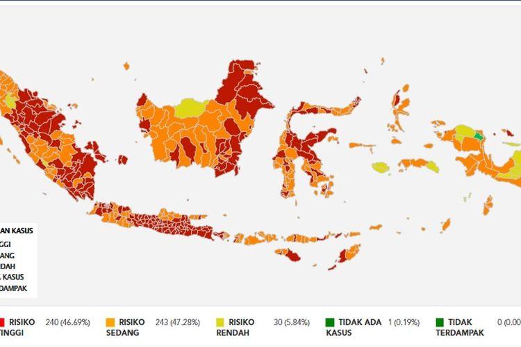 Zona Merah di Indonesia 1  Agustus 2021