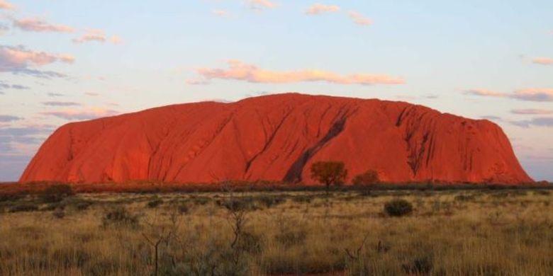 Batu Uluru di Alice Springs, Australia.