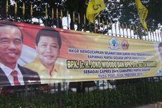 Spanduk Jokowi-Setya Novanto untuk Pilpres 2019 Terpajang di Rapimnas Golkar