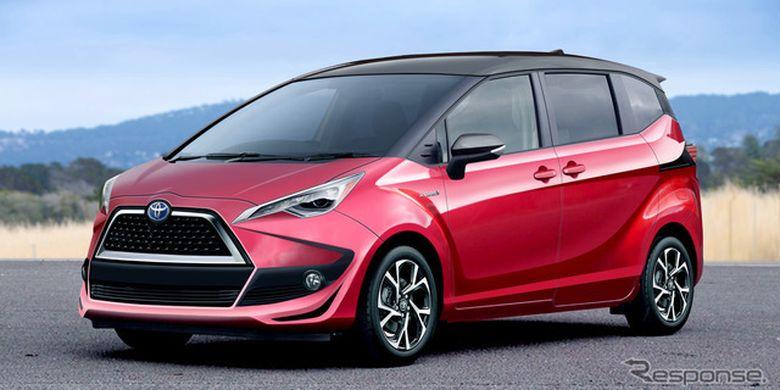 Hasil olah digital Toyota Sienta terbaru.