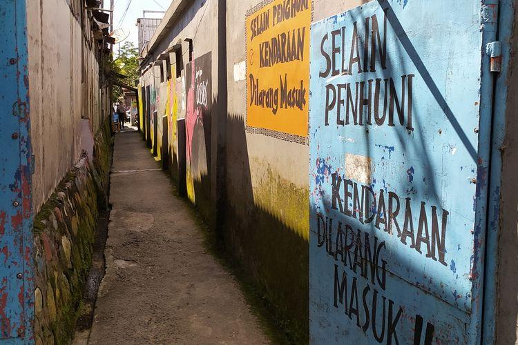 Pintu masuk Gang Sadar Baturraden, Kabupaten Banyumas, Jawa Tengah.