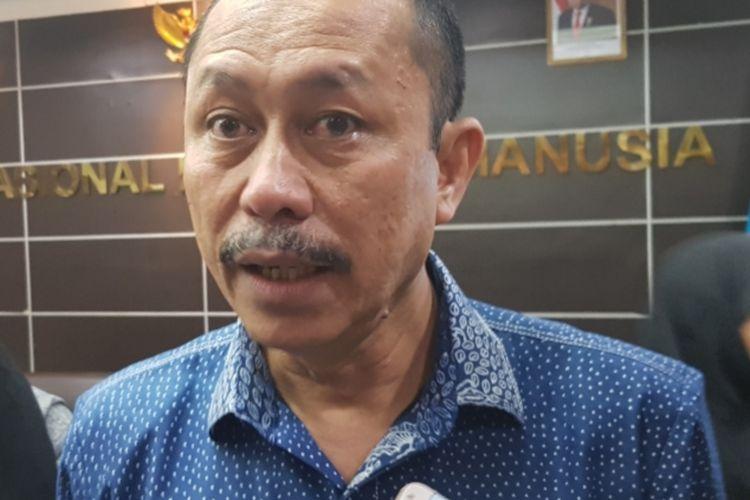 Ketua Komnas HAM Ahmad Taufan Damanik saat ditemui di Kantor Komnas HAM, Menteng, Jakarta Pusat, Jumat (13/12/2019).