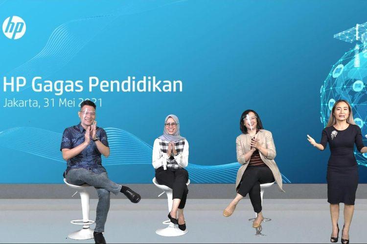 Sebagai bentuk kontribusi terhadap dunia pendidikan di Indonesia, HP meluncurkan program Semangat Guru  Virtual Learning Series dan HP Life, Senin (31/5/2021).