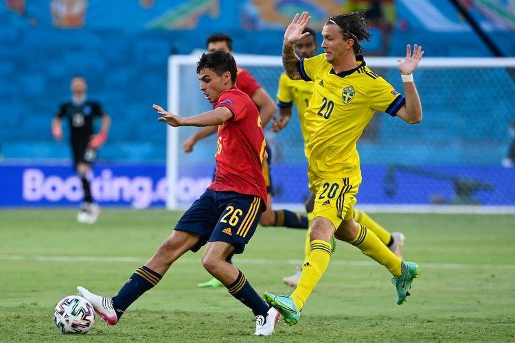 Pedri tampil sebagai starter bagi timnas Spanyol pada laga Grup E Euro 2020 kontra Swedia pada Selasa (15/6/2021) dini hari WIB.