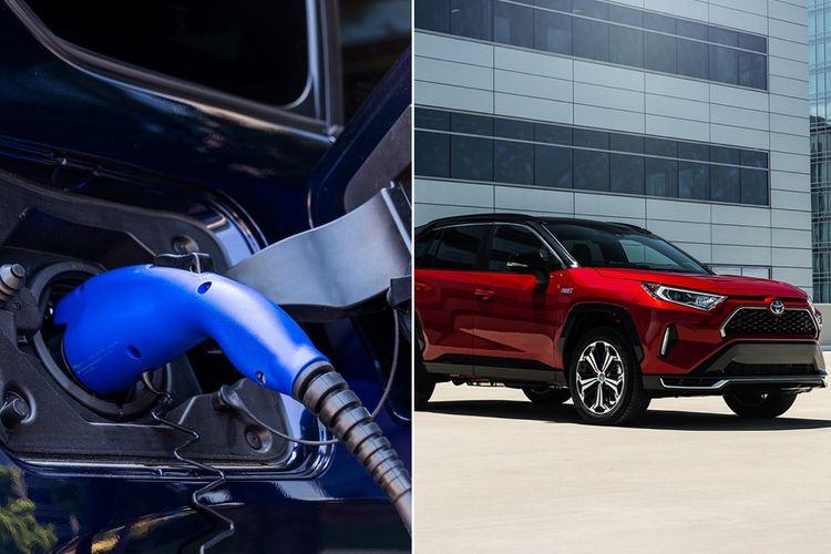 Ilustrasi mobil listrik Toyota