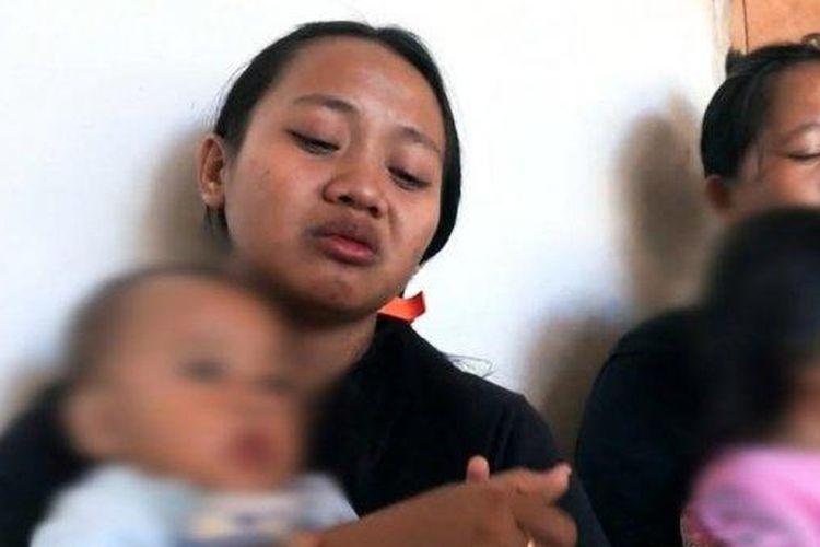 Dewi, Istri guru Yonathan Renden yang ditembak oleh KKB (Sumber: Istimewa/ Tribun Toraja)