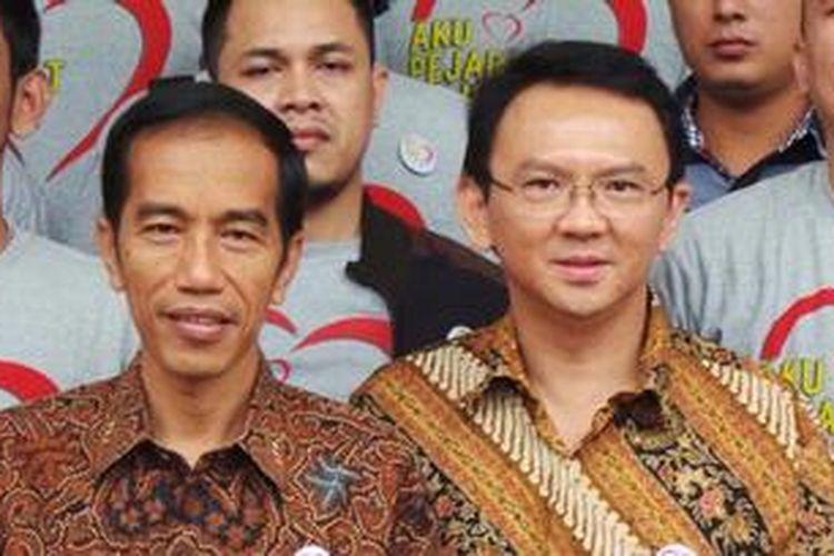 Gubernur dan Wakil Gubernur DKI Jakarta,  Joko Widodo dan Basuki Tjahaja Purnama.