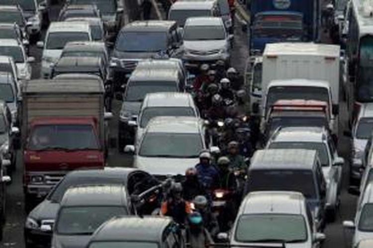 Ilustrasi lalu lintas macet