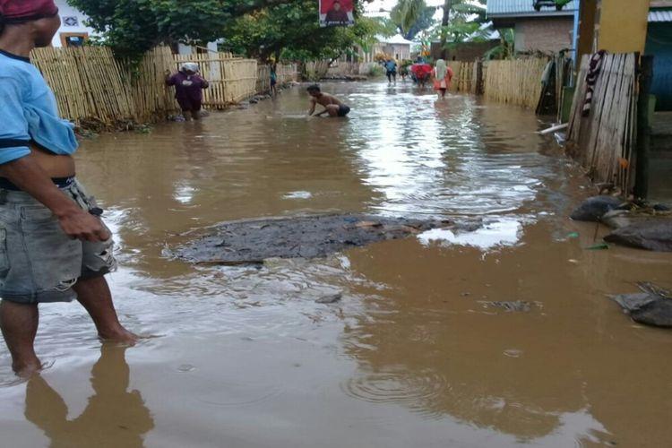 kondisi pemukiman warga yang terdampak banjir bandang pada Selasa (31/12/2019)