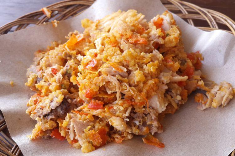 Ilustrasi ayam geprek tanpa nasi.