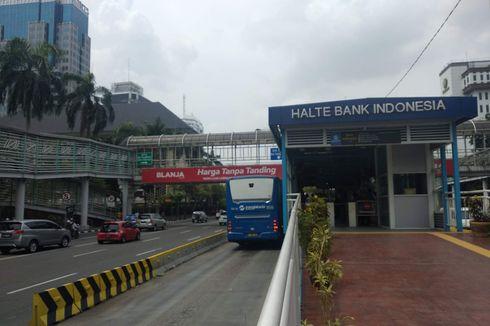 Halte Transjakarta Bank Indonesia Dibongkar dan Diganti 2 Halte Sementara
