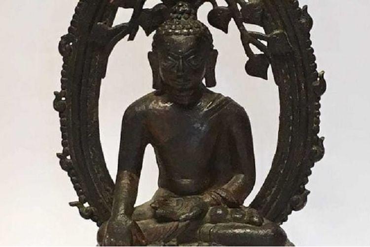 Patung berbahan perunggu ini merupakan satu dari 14 patung yang dicuri dari Museum Arkeologi Nalanda, India pada 1961.