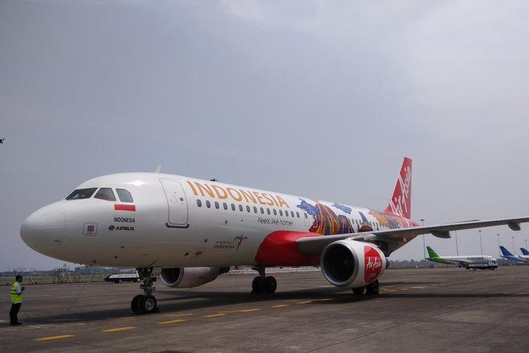 Ilustrasi pesawat AirAsia