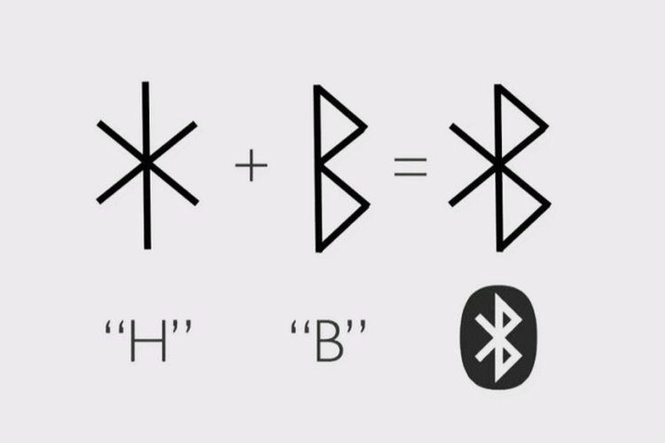 Logo Bluetooth berasal dari huruf Hagall (H) dan Bjarkan (B).