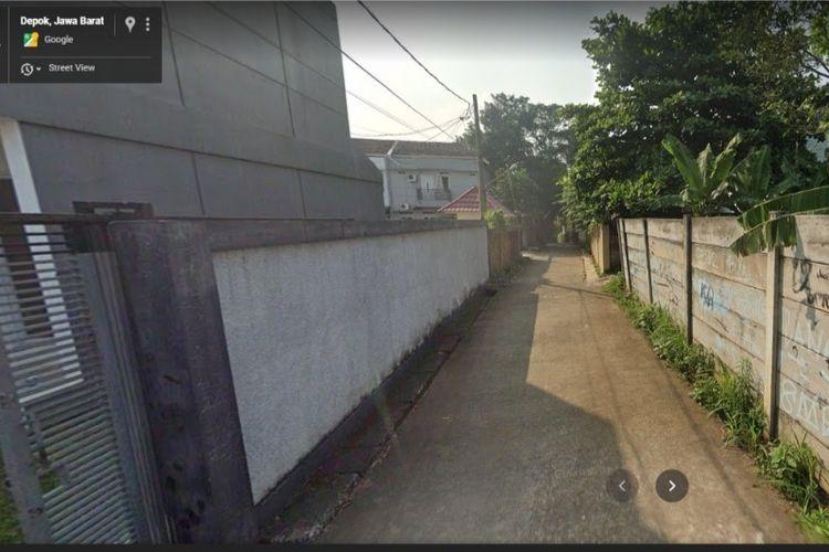Gang buntu di Cinangka, Sawangan, Depok yang viral di TikTok berdasarkan penelusuran via Google Maps.