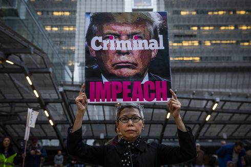 DPR AS Resmi Kirim Artikel Pemakzulan Trump kepada Senat