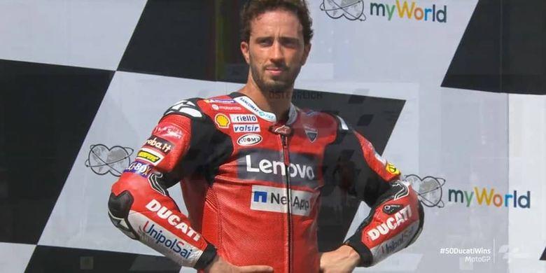Andrea Dovizioso berhasil memenangkan MotoGP Austria 2020