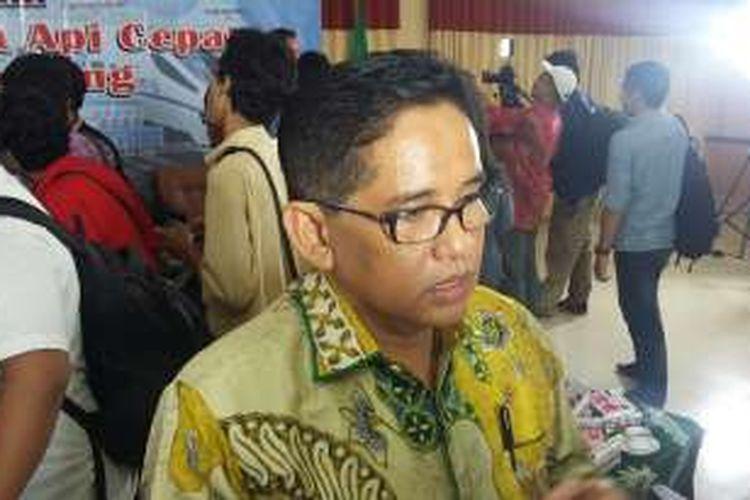 Anggota Komisi V DPR RI A Bakri seusai diskusi di Kantor PP Muhammadiyah, Jakarta Pusat,  Jumat (5/2/2016).