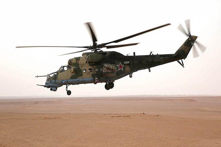 Helikopter milik Rusia berjenis Mi-24 yang dilaporkan telah jatuh di Suriah dan menewaskan dua orang kru helikopter.