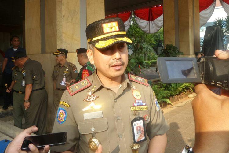 Kepala Satpol PP Yani Wahyu di Balai Kota DKI Jakarta, Jalan Medan Merdeka Selatan, Selasa (1/8/2017).