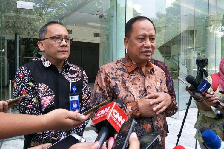 Menristek Dikti Mohamad Nasir dan Kepala LIP Laksana Tri Handoko menemui Wapres Jusuf Kalla bahas reorganisasi pegawai