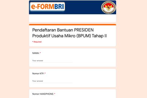 [HOAKS] Link Informasi dan Pendaftaran Bansos BLT UMKM Tahap II