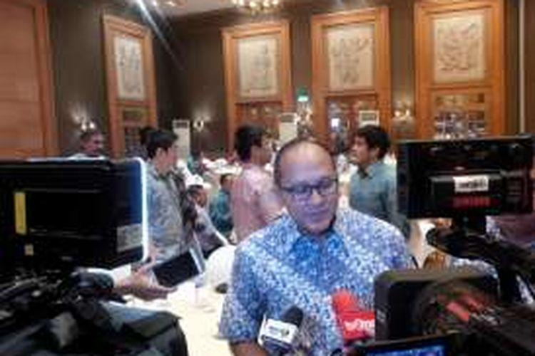 Ketua Umum Kadin Rosan Roeslani di Hotel Aryaduta, Jakarta (7/11/2016)