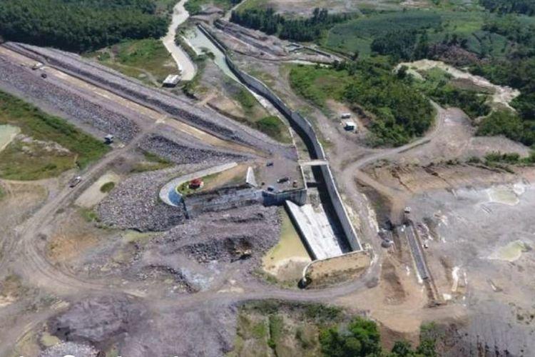 Bendungan Gongseng di Bojonegoro yang dibangun mulai 2013 dengan nilai kontrak Rp 569 miliar