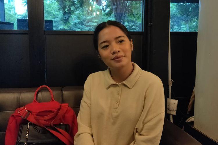 Cantika Abigail saat ditemui di kawasan SCBD, Jakarta Selatan, Jumat (6/12/2019).