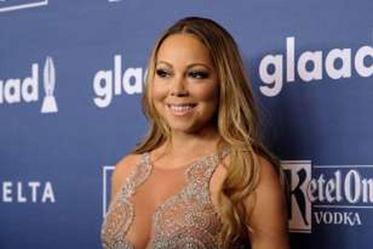 Mariah Carey menghadiri GLAAD Media Awards di New York, AS, Sabtu (14/5/2016).