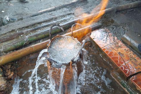 Fenomena Munculnya Sumber Air Asin yang Bisa Terbakar di Karanganyar, Warga Percaya Sembuhkan Penyakit
