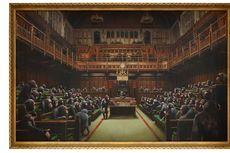 Lukisan Politisi Simpanse Banksy Diprediksi Terjual Rp 35 Miliar