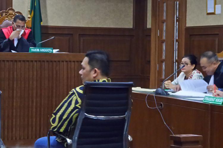 Farhat Abbas saat bersaksi dalam persidangan untuk terdakwa Miryam A Haryani di Pengadilan Tipikor Jakarta, Senin (4/9/2017).