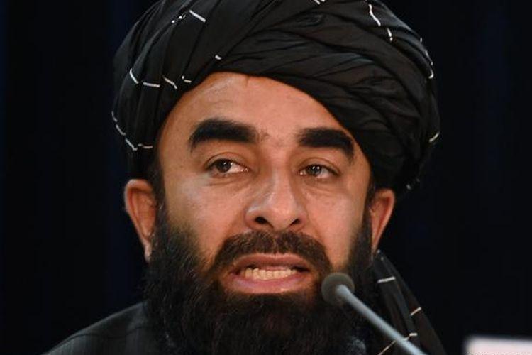 Juru bicara Taliban, Zabihullah Mujahid, mengumumkan Mullah Mohammad Hassan Akhund sebagai pemimpin kabinet pemerintahan baru Afghanistan di bawah rezim Taliban dalam konferensi pers yang digelar di Kabul, Selasa (7/9/2021).